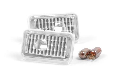 Side indicator set crystal clear Audi Cabriolet 91-00