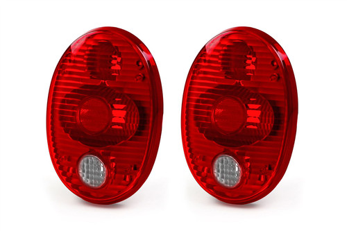 Rear light set crystal red VW Beetle 73-79