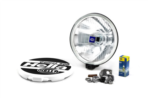 Hella Comet 500 spotlight clear with cover bulb and mounts