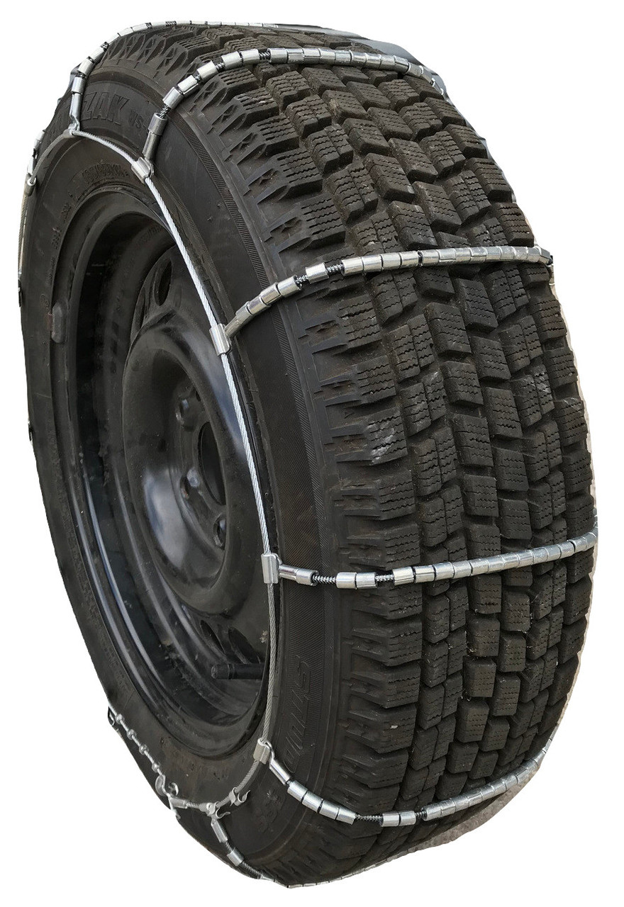 TireChain.com Compatible with Alfa Romeo 4C Front 2015 205//45ZR17 Cable Tire Chains