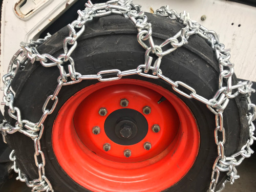 Compatible With Mahindra 2555 Hst Cab  R4 Front 12X16.5 V-Bar Duo Grip Tire Chains