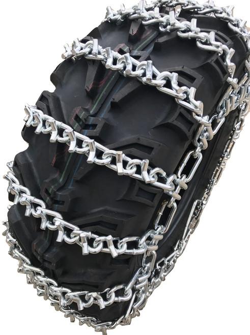 25 X 11 X 12, 25 11 12 Atv Utv 2 Link V Bar Tire Chains Set Of 2