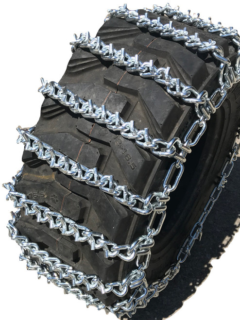 10 16.5 10-16.5 Two-Link V-Bar Tractor Tire Chains Set Of 2