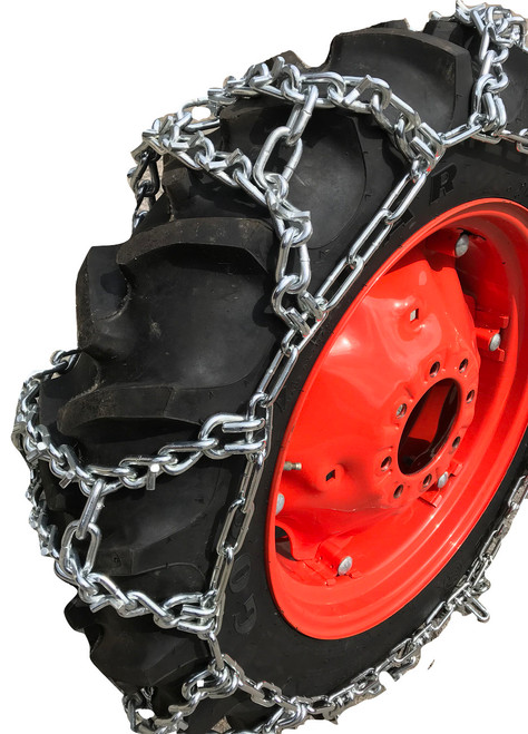 10-16.5, 10 16.5 Economy Duo Grip Tractor V-Bar Tire Chains Set Of 2