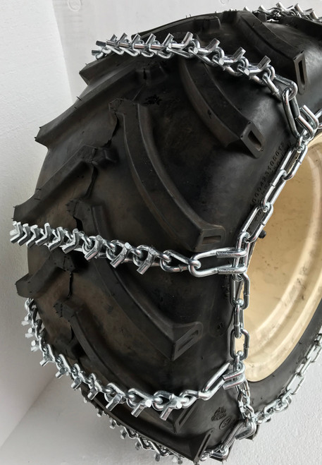 27 X 9.50 X 15 , 27  9.50  15  Heavy Duty 4 Link V Bar Tractor Tire Chains