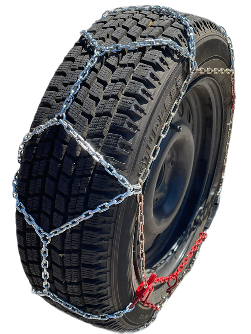 Ultra-Low Profile Diamond Tire Chains P195/70R14 P195/70 14 Set Of 2