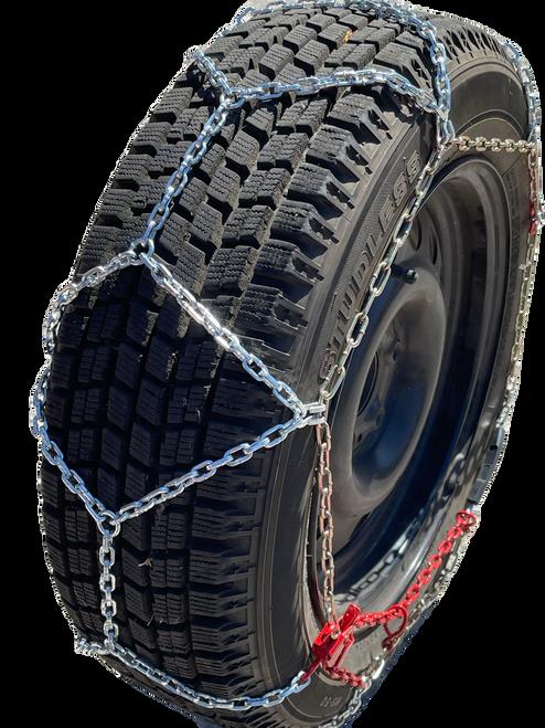 Ultra-Low Profile Diamond Tire Chains P205/60R13 P205/60 13 Set Of 2