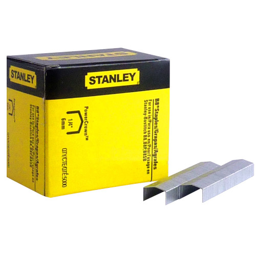 Stanley Work STCR2115-1/4 B8 Staples Box of 5000 staples - 5x BOXES