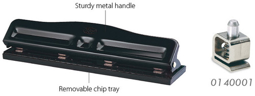 KW TRIO Adjustable 4 Hole paper punch