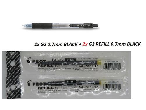 1x Pilot G2 pen 0.7mm + 2x G2 0.7mm REFILLS