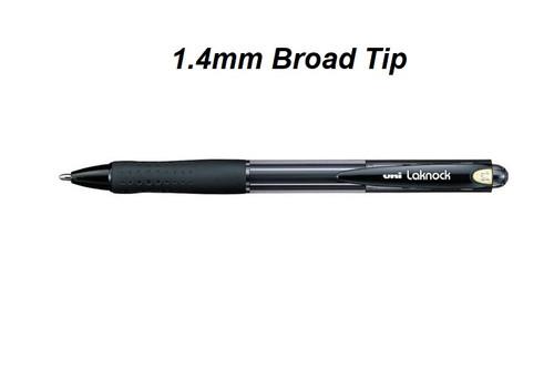 Uniball Laknock SN100 Retractable Ballpoint 1.4mm BLACK