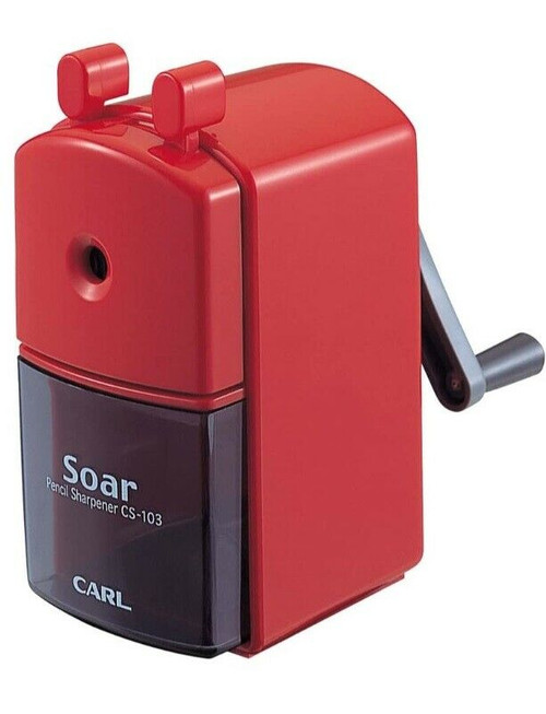 CARL SOAR Hand Crank Manual Pencil Sharpener CS103 RED