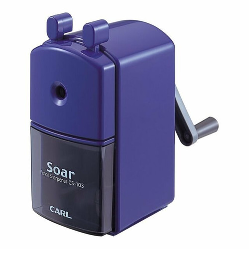 CARL SOAR Hand Crank Manual Pencil Sharpener CS103 BLUE