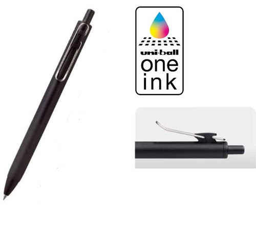 Uniball One Retractable Gel Pen 0.5mm UMN-S5BK - 10x BLACK