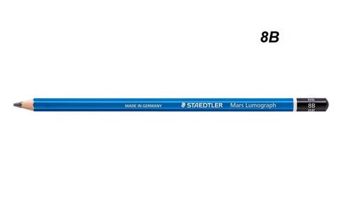STAEDTLER Mars Lumograph Graphite Pencil 8B - 1 DOZEN Black