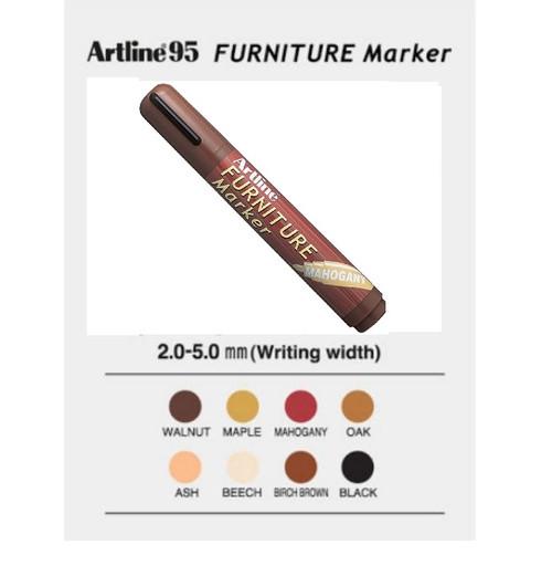 Artline Furniture Marker EK95 for marking wooden objects - 2x Mahongany