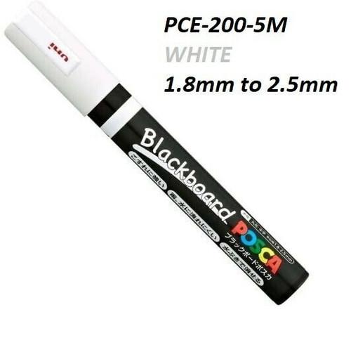 Uni POSCA Blackboard PCE-200-5M (Bullet Tip) Deco markers - 10x WHITE