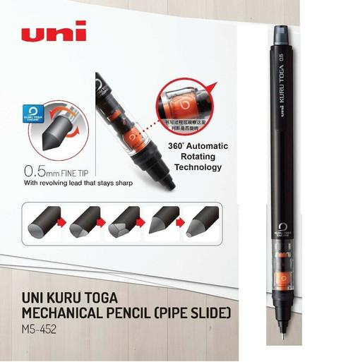 Uniball Kuru Toga 0.5mm Pipe Slide Auto Lead Rotate Mechanical Pencil (M5-452)