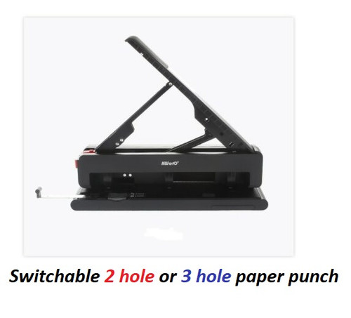 KW TRIO 9942 Lever Arch Adjustable 2 Way (2 hole or 3 hole) A4 size paper punch