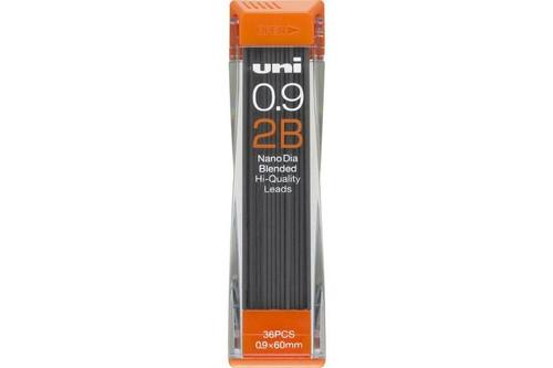 Uni Nano Dia Mechanical Pencil Lead 0.9mm 2B TUBE of 36pcs