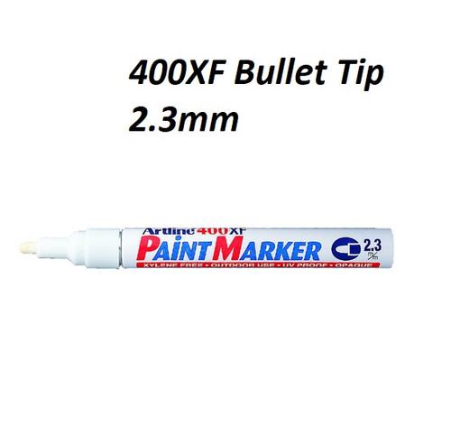 Artline Paint Marker EK400XF Bullet Tip 2.3mm - 1 DOZEN WHITE