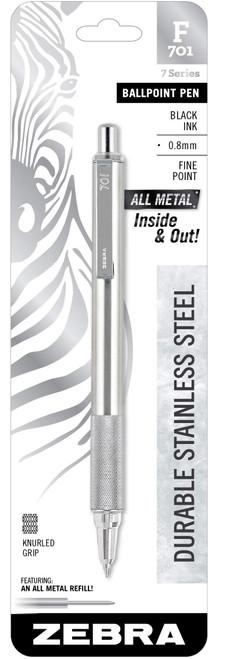 ZEBRA F701 Stainless Steel Ballpoint Pen 0.7mm BLACK