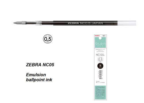 Zebra NC05 Refill 0.5mm - 1 DOZEN BLACK