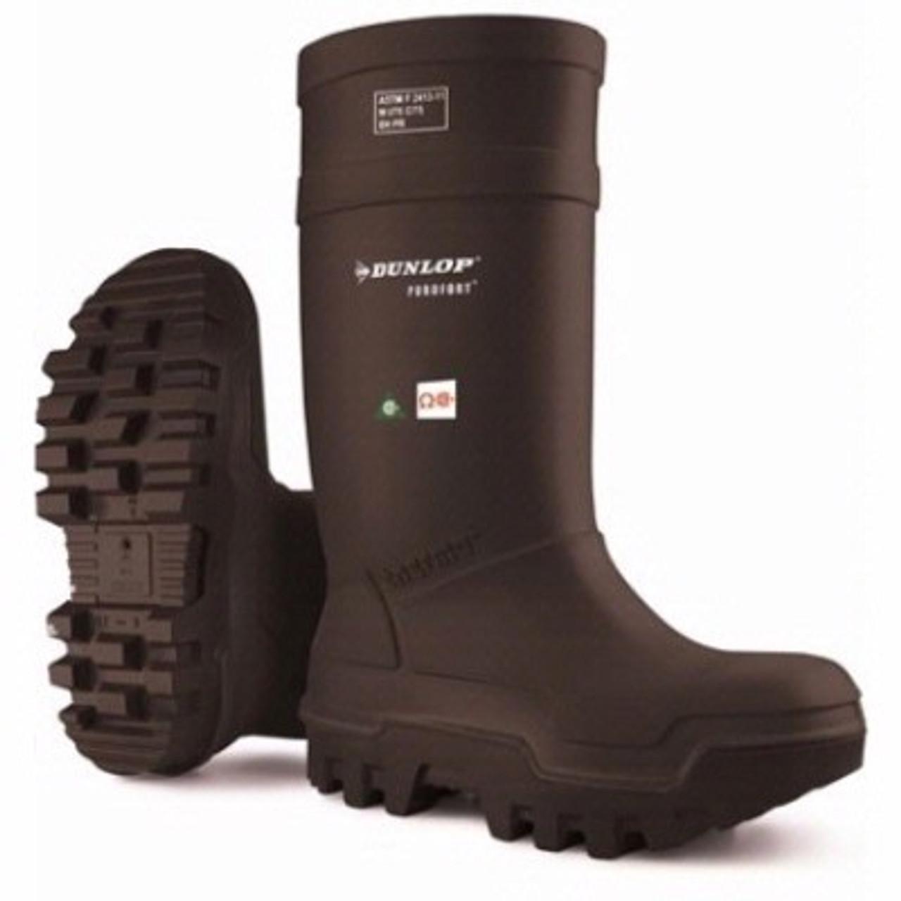 Sizes 5-13 Dunlop Purofort Thermo Plus Safety Wellington Work Boots Orange