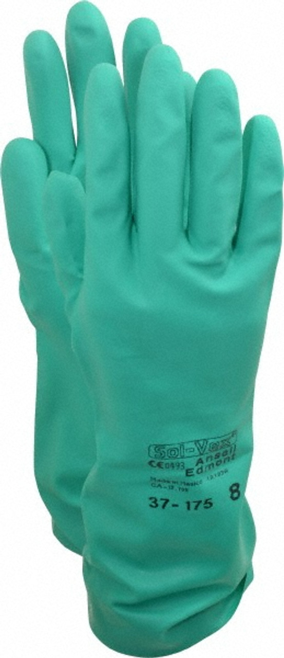 Ansell Sol-Vex 37-175 Chemical Resistant Gloves Size 10 6 Pair