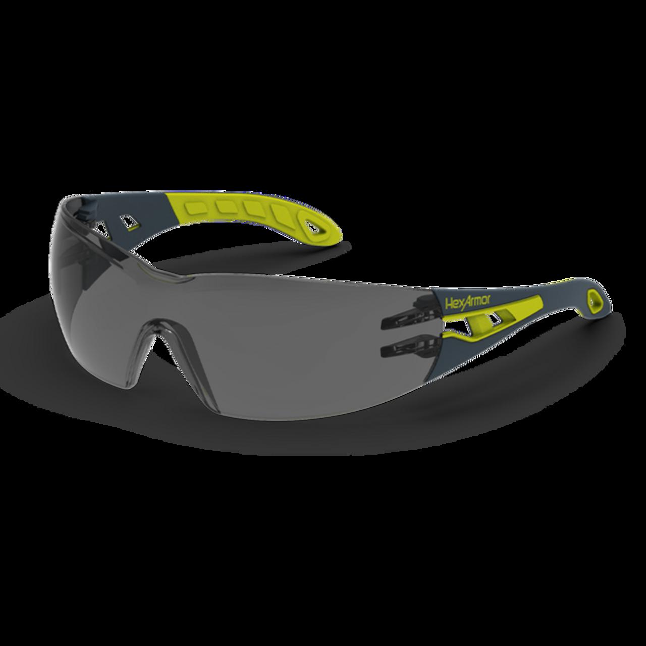 Hexarmor 11 10006 02 Mx200 Safety Eyewear Grey 23 Light Transmission Lens With Trushield Coating