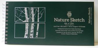 "Pentalic Nature Sketch Pad 12x6"" (landscape)"