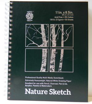 "Pentalic Nature Sketch Pad 8.5x11"""