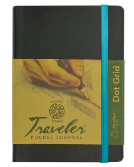 Pentalic Recycled Traveler Journal Dot Grid 6x4 Black