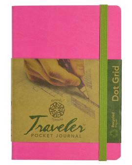 Pentalic Recycled Traveler Journal Dot Grid 6x4 Pink