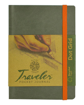 Pentalic Recycled Traveler Journal Dot Grid 6x4 Grey