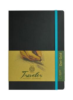 Pentalic Recycled Traveler Journal Dot Grid 8x6 Black