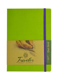 Pentalic Recycled Traveler Journal Dot Grid 8x6 Olive