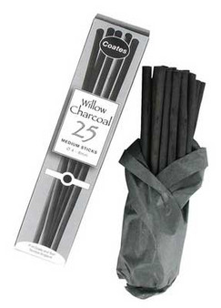 P.H. Coates Willow Charcoal Medium 25pk