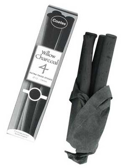 P.H. Coates Willow Charcoal Extra Thick 4pk