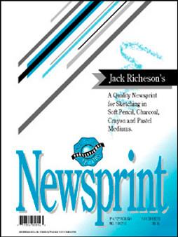 Jack Richeson Rough Newsprint Pad 9x12 100 sheets