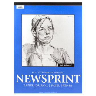 Jack Richeson Rough Newsprint Pad 18x24 100 sheets