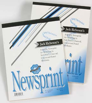 Jack Richeson Rough Newsprint 9x12 50shts