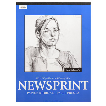 Jack Richeson Newsprint Pad Rough 50shts 18x24-Inch