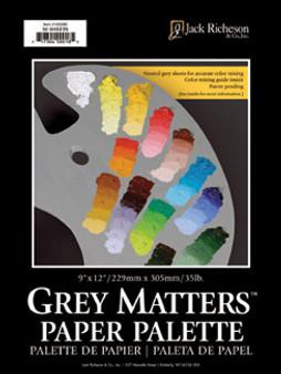 Jack Richeson Grey Matters Paper Palette Pad 9x12