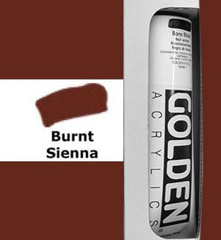 Golden Artist Colors Heavy Body Acrylic: 5oz Burnt Sienna