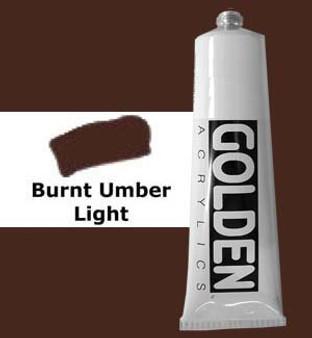 Golden Artist Colors Heavy Body Acrylic: 2oz Burnt Umber Light