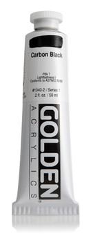 Golden Artist Colors Heavy Body Acrylic: 2oz Carbon Black