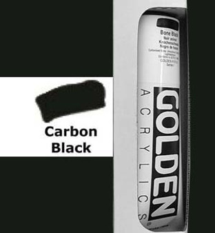 Golden Artist Colors Heavy Body Acrylic: 5oz Carbon Black