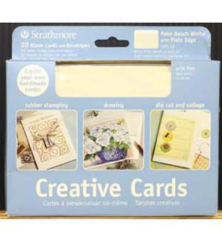 Strathmore Creative Cards Palm Beach White 5x7 20pk