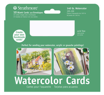 Strathmore Watercolor Cards Watercolor 5x7 10pk